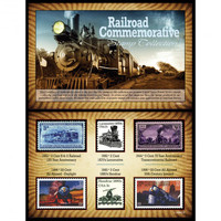 Railroad History Stamp Collection