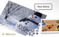 Snowman Personalized Jigsaw Puzzle
