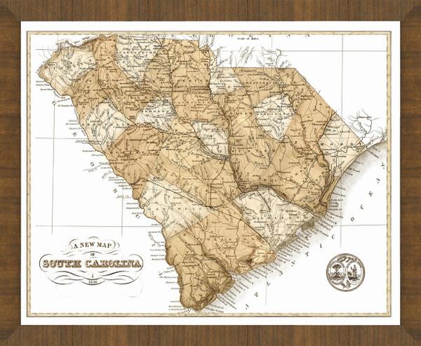 Old Map of South Carolina