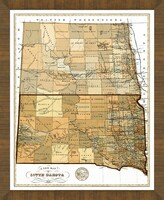 Old Map of South Dakota