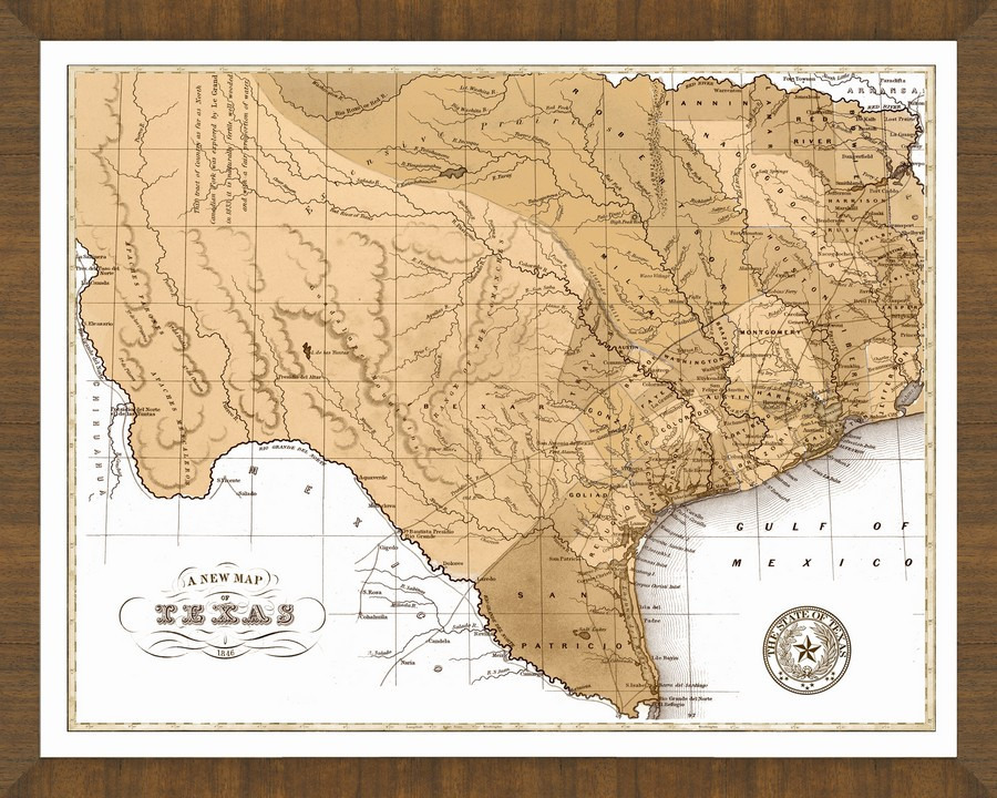 State Map Of Tx.Old State Maps A Great Framed Map That Is Ready To Hang