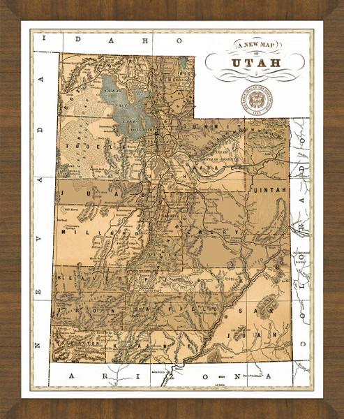 Old Map of Utah