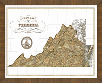 Old Map of Virginia