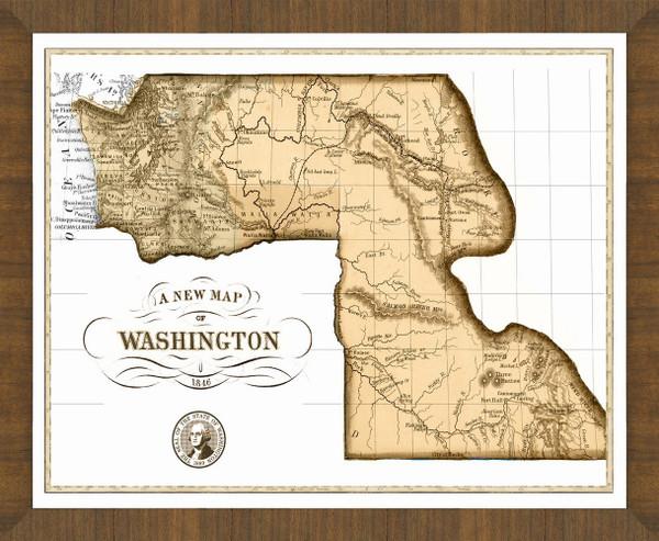 Old Map of Washington