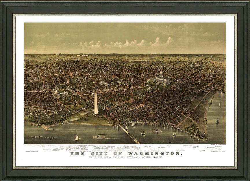 Old Map of Washington DC