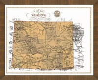 Old Map of Wyoming