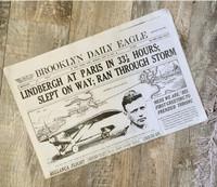 Charles Lindbergh Flight Historic Newspaper