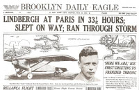 Charles Lindbergh Flight Historic Newspaper