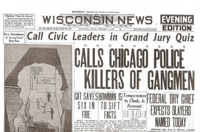 St Valentine S Day Massacre Historic Newspaper Reprint