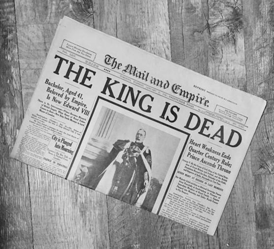 Death of King George V Historic Newspaper