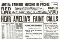 Amelia Earhart Newspaper Historic Coverage