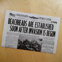 D-Day Newspaper