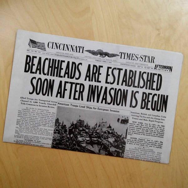 D-Day Newspaper