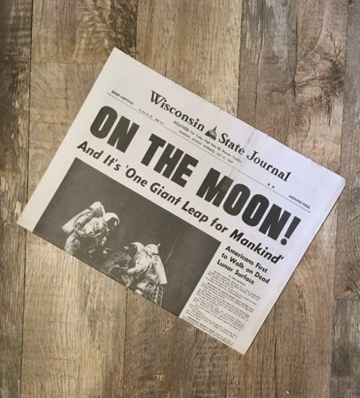 Moon Landing Newspaper