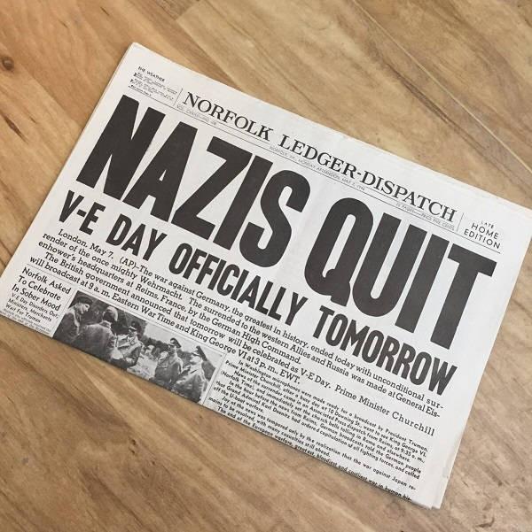 Germany Surrenders Newspaper