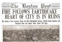 San Francisco Earthquake Historic Paper