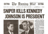 Kennedy Assassinated Historic Paper