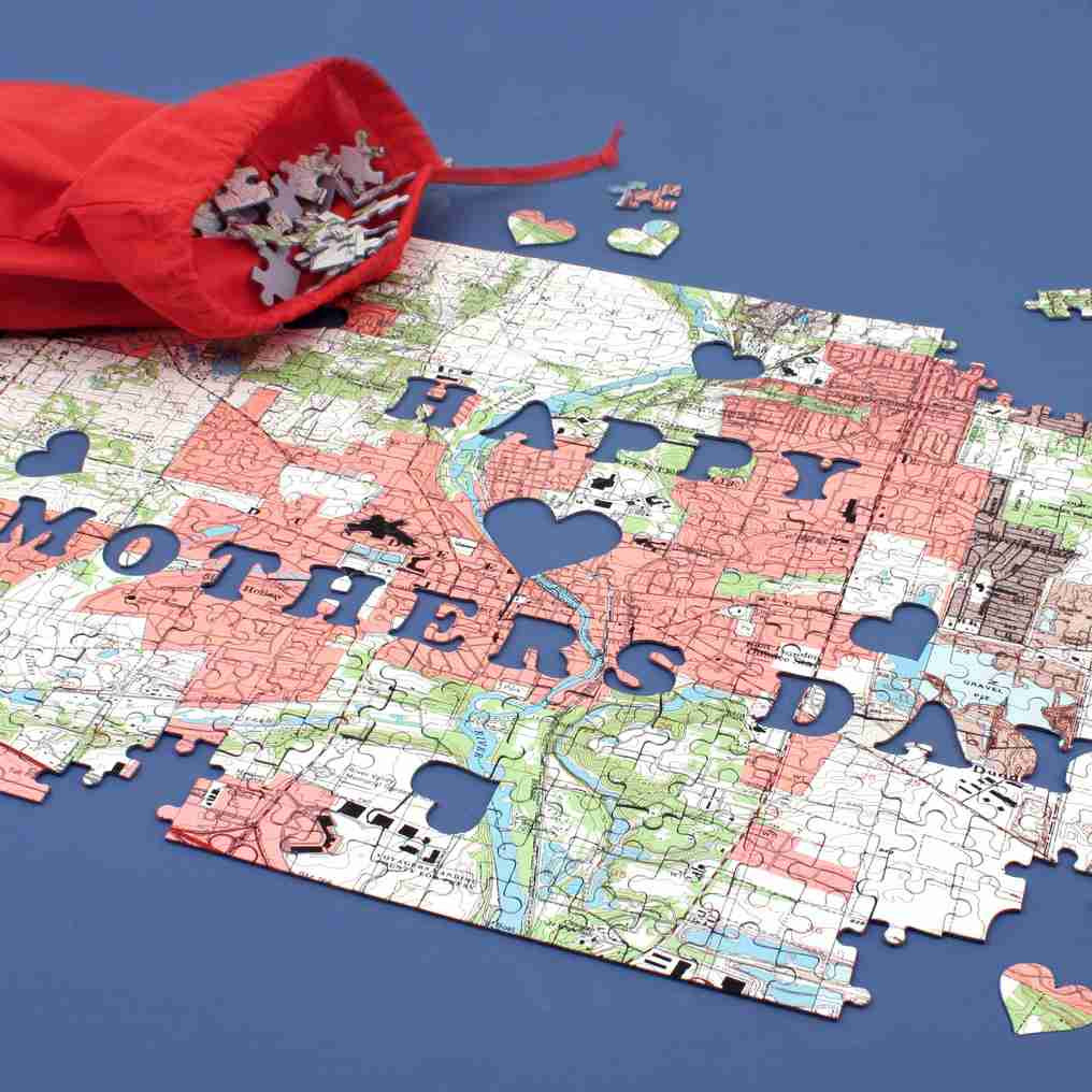 Mother's Day Map Puzzle