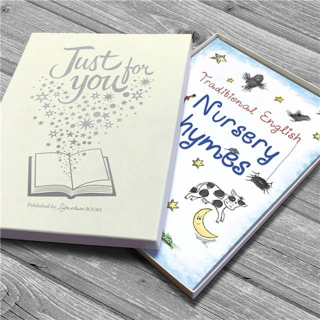 Gift Box with Personalized Book of Classic Nursery Rhymes