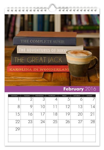 February Family Name Calendar