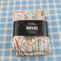 Personalized Map Napkins from National Geographic