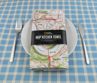 Personalized Map Kitchen Towel from National Geographic