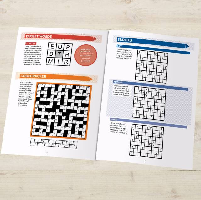 Puzzle Book for Grown Ups - all different types of puzzles.