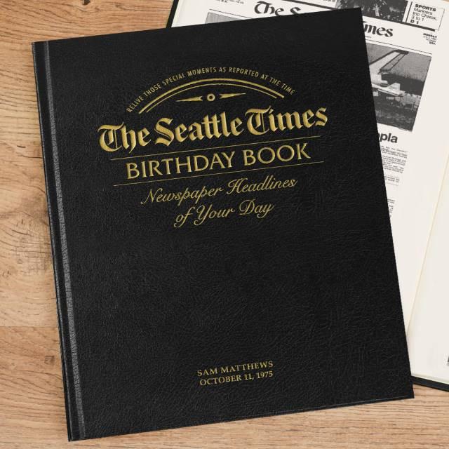Seattle Times Birthday Newspaper - Premium Leather Edition