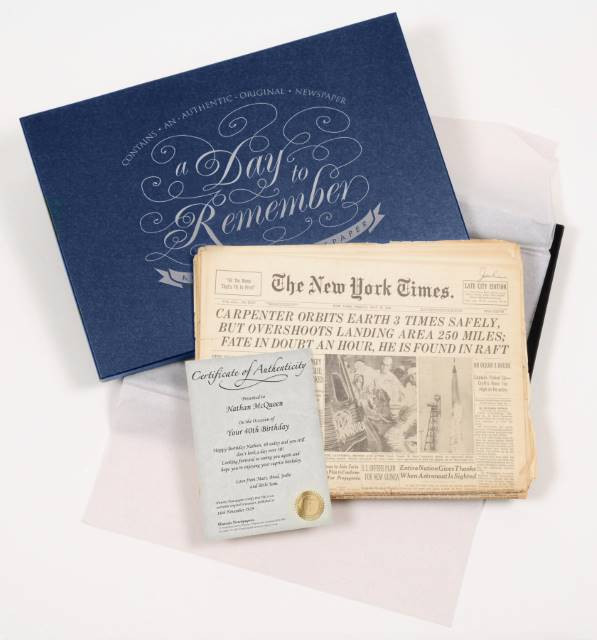 NY Times with Gift Box
