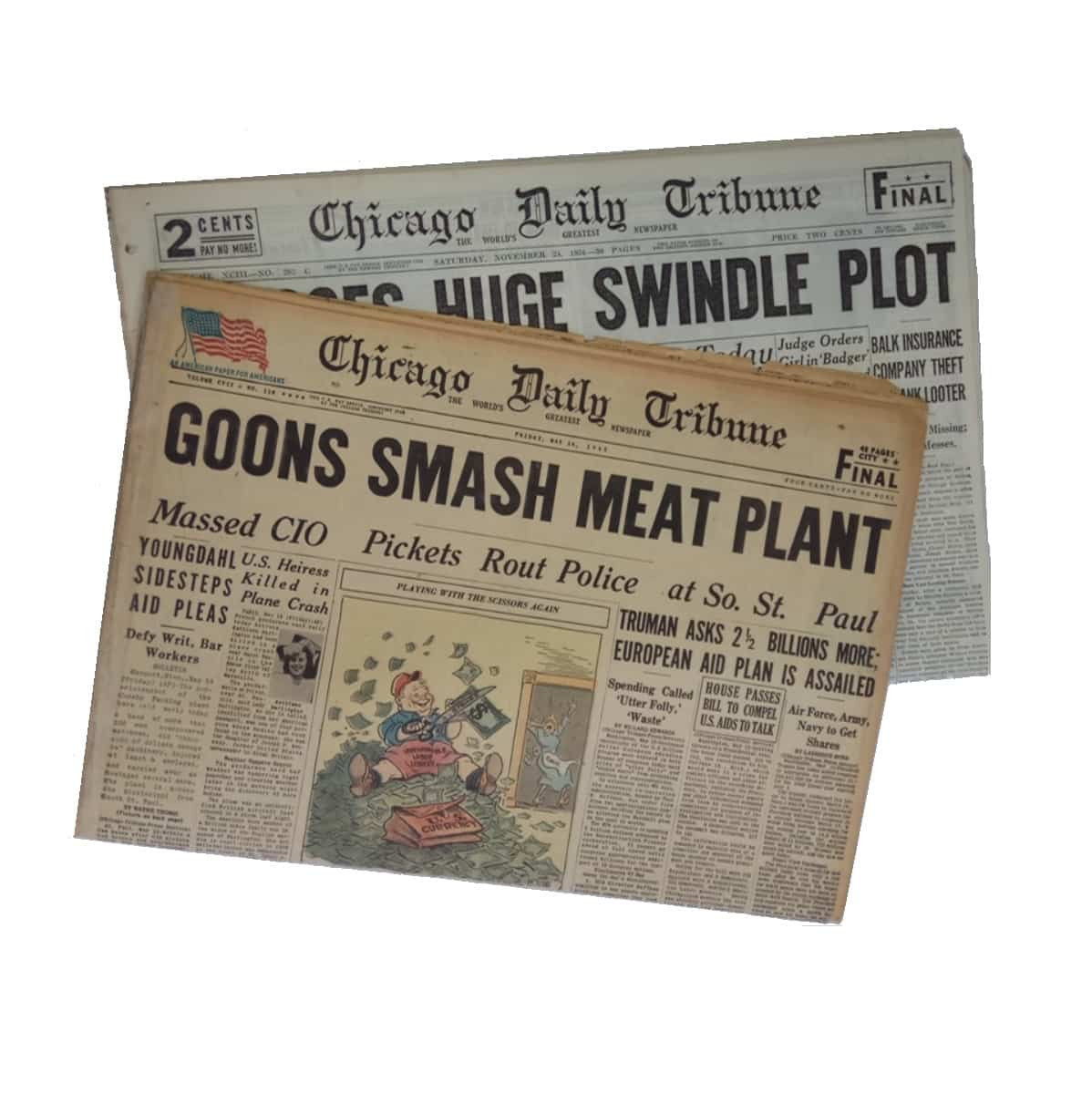picture regarding Free Printable Birthday Chronicle named Chicago Tribune Birthday Newspaper