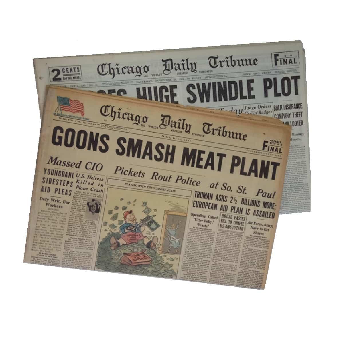 photo relating to Free Printable Birthday Chronicle named Chicago Tribune Birthday Newspaper