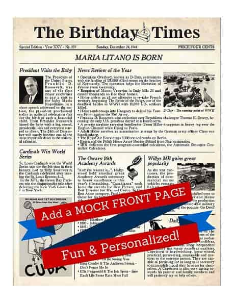 Mock Front Page