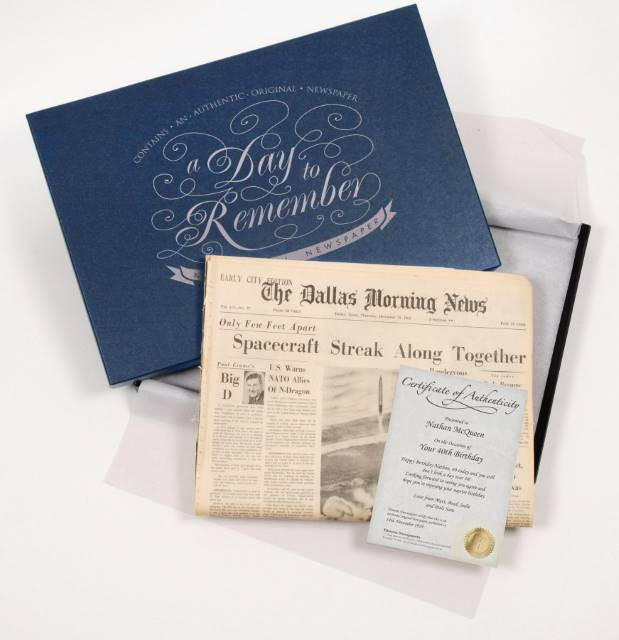 Dallas Morning News with Gift Box (optional)