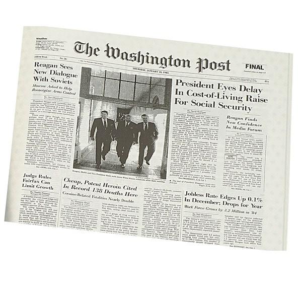 Washington Post Birthday Newspaper