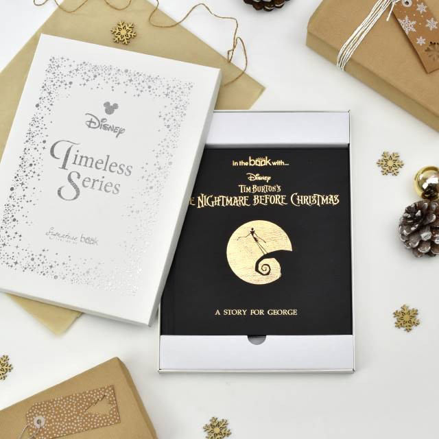 Personalized Nightmare Before Christmas Story Book with gift box