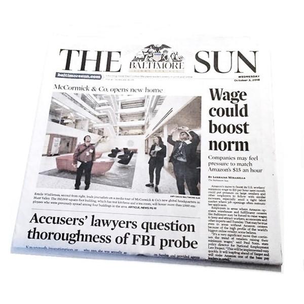 Baltimore Sun Birthday Newspaper