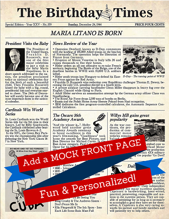 Fun Mock Front Page