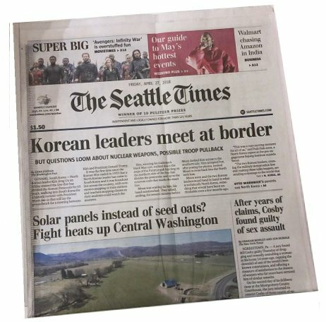 Seattle Times Original Birthday Newspaper