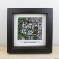 National Geographic Personalized Framed Map or Aerial Image