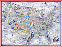 USA - Land of the Free - Illustrated Map Puzzle