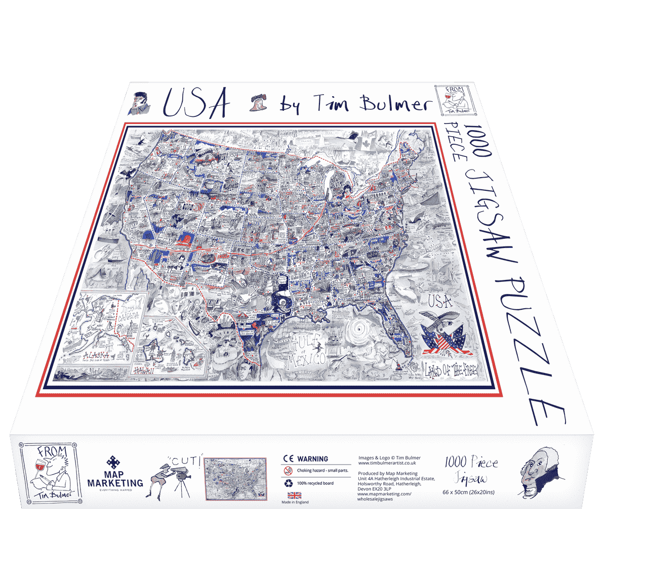 Box USA - Land of the Free - Illustrated Map Puzzle