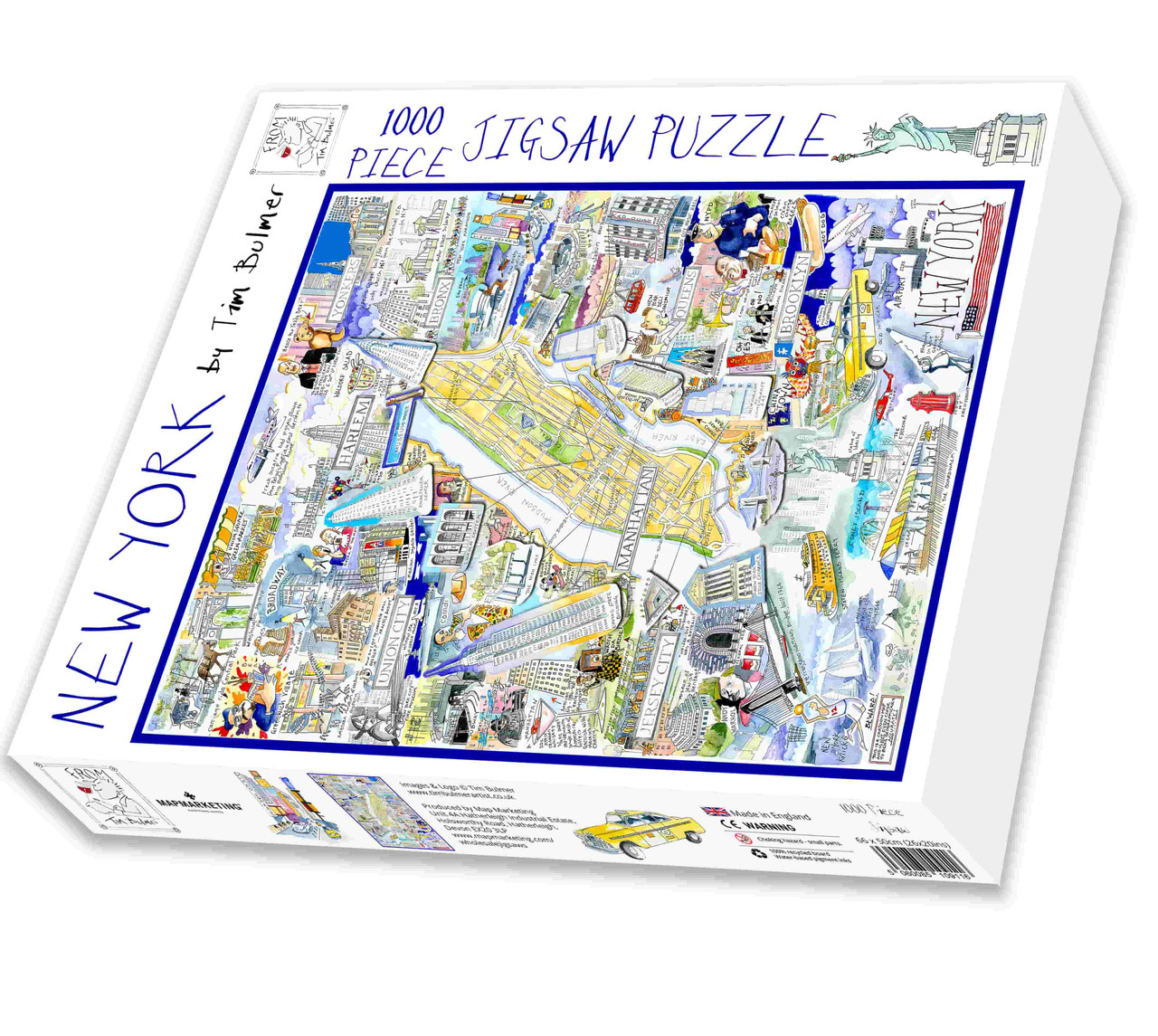 New York City - Illustrated Map Puzzle in the Box