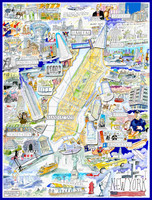 New York City - Illustrated Map Puzzle