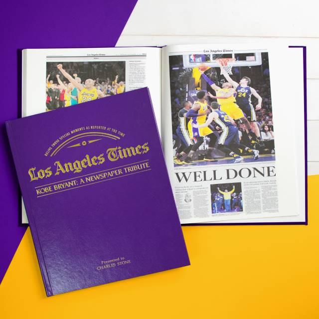 Kobe Bryant Newspaper Tribute - Lakers Purple Cover