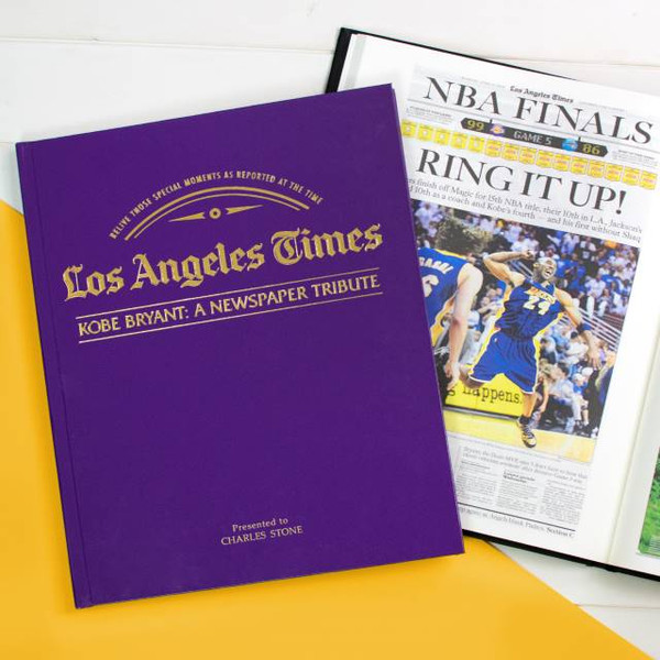 Kobe Bryant Newspaper Tribute from the LA Times