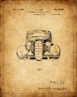 Technical Patent Drawing - Automobile