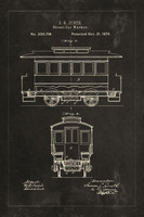 Technical Patent Drawing - Streetcar