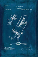 Technical Patent Drawing - Microscope