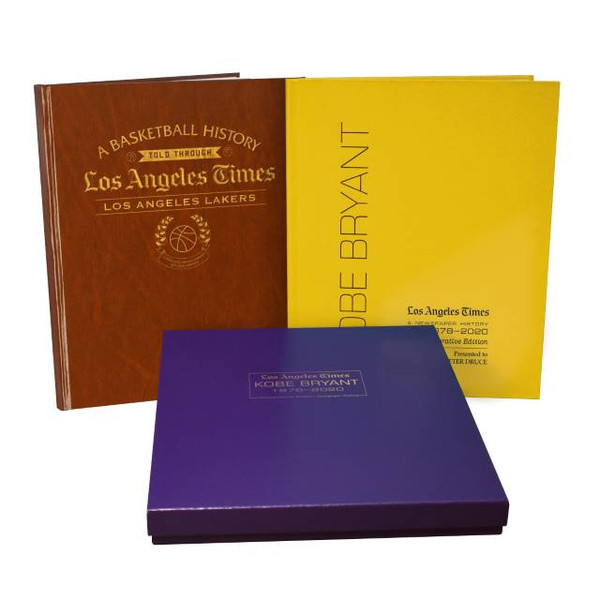 LA Lakers History & Kobe Bryant Memorial Book Set