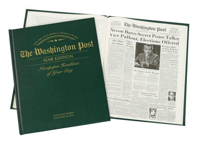 Washington Post YEAR Edition Birthday Book